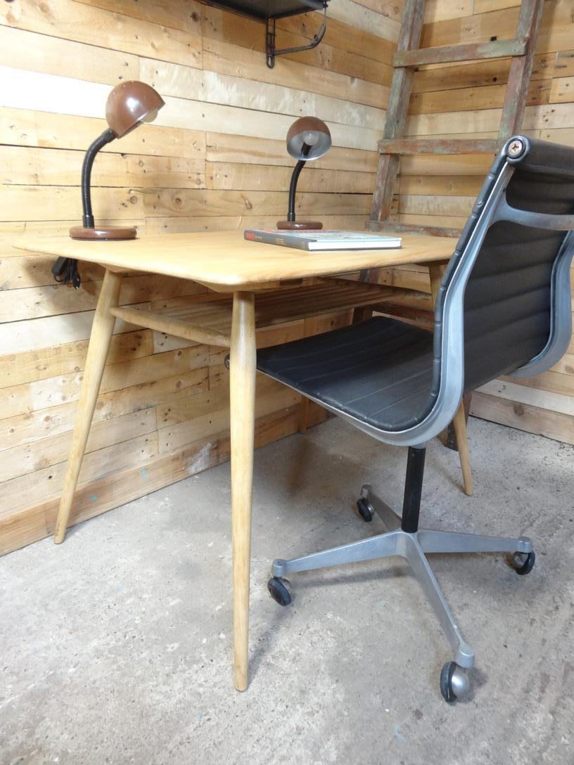 Ercol No. 393 Solid wooden minimalistic desk