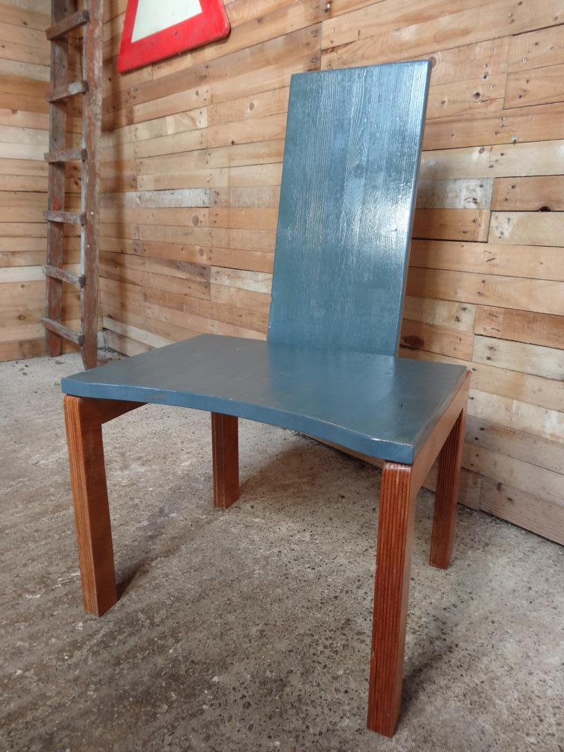 SOLD - Minimalistic Brutalistic blue chair (price on request)