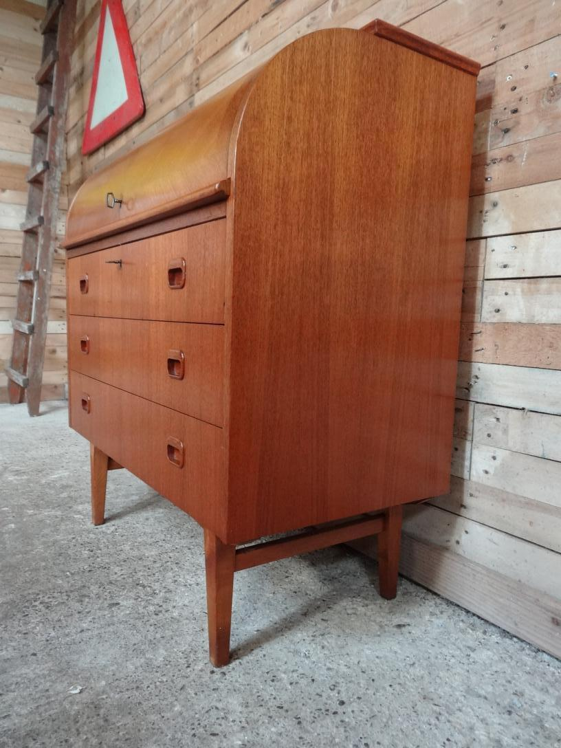 SOLD - Retro 1960 Danish round top desk