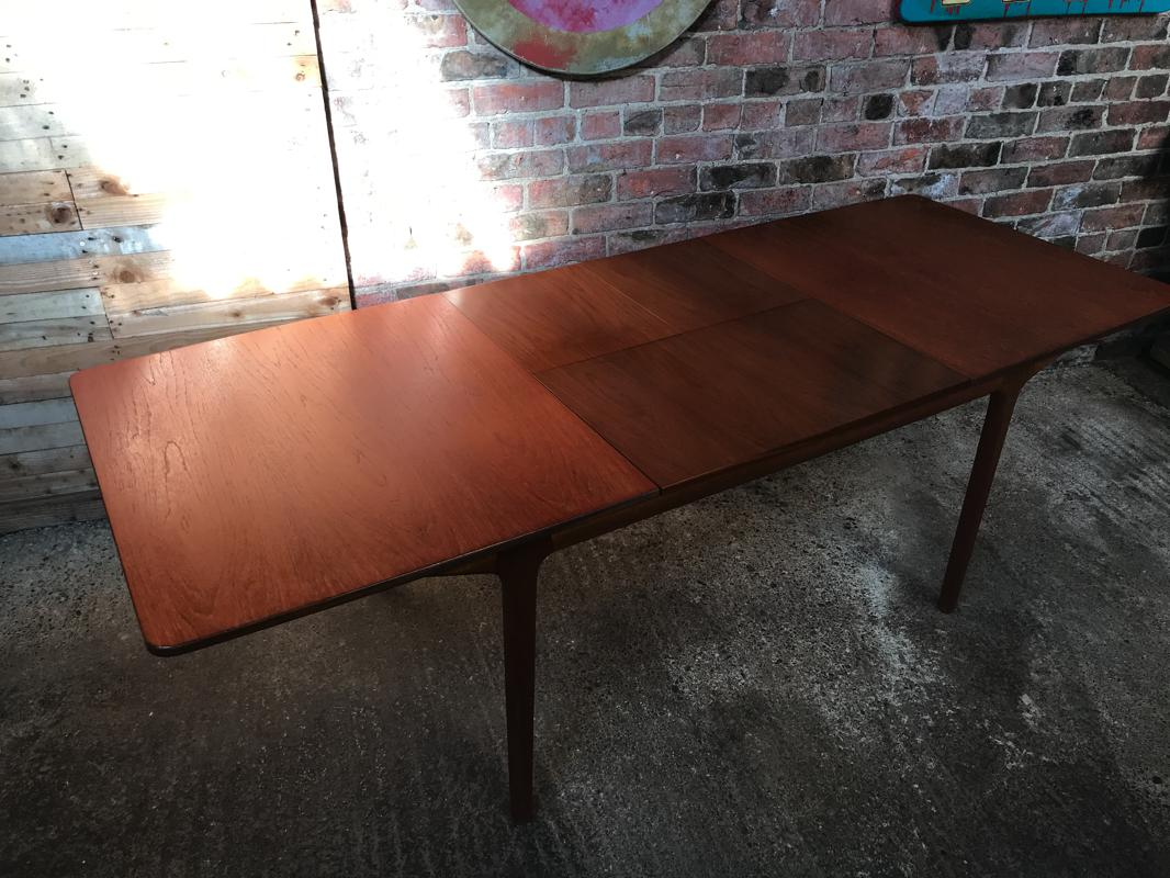 SOLD - Extra Large Teak Mcintosh extendable table