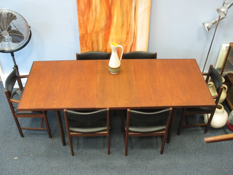 #Sold# English Archie Shine Table and 6 Chairs