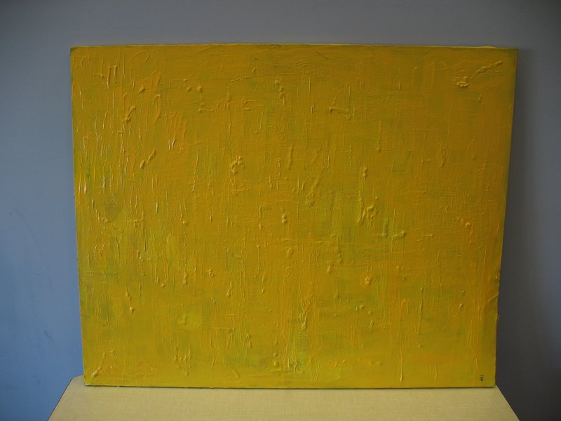 Original Abstract painting 'Yellow Rain'