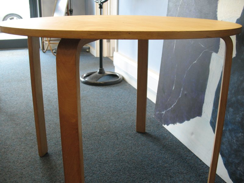 **sold**Danish Alvar Aalto Table and 4 Chairs