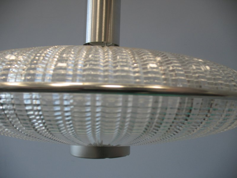 **SOLD**1960's hang lamp in doorzichtig plastic