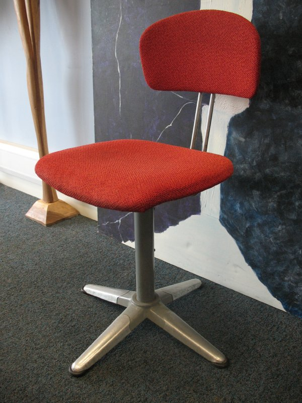 Original industrial metal office chair