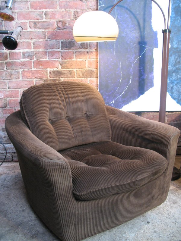 SOLD - Danish corduroy tub / Armchair price for the set