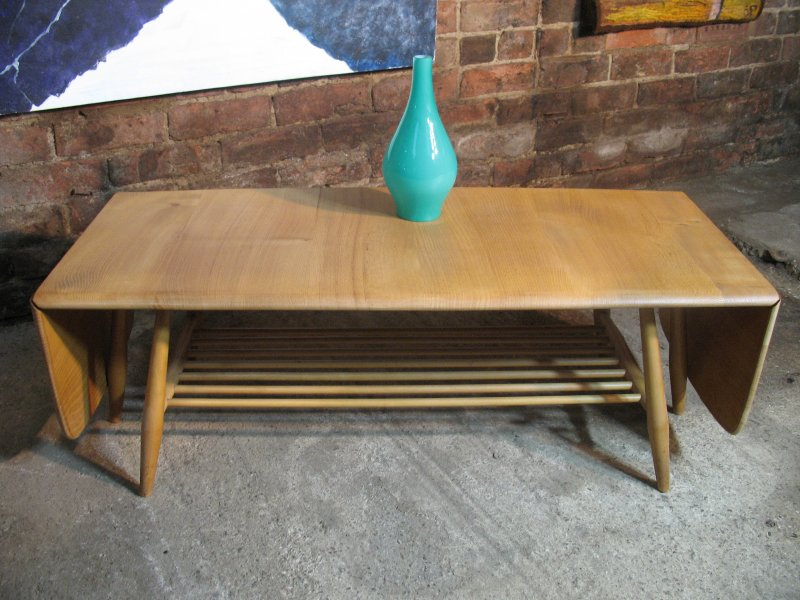 **SOLD**1960's Ercol dropdown ladder rack elm/beech  coffee table
