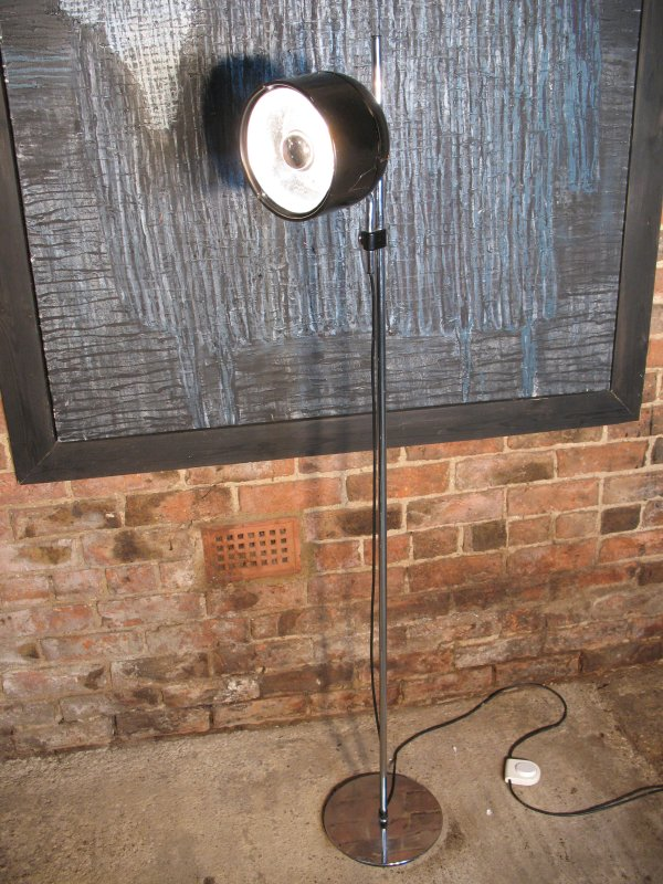 1960's floor standing black studio lamp
