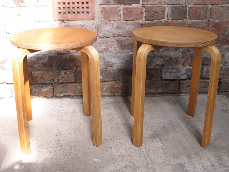 **sold**Danish Alvar Aalto stools (No:64) low