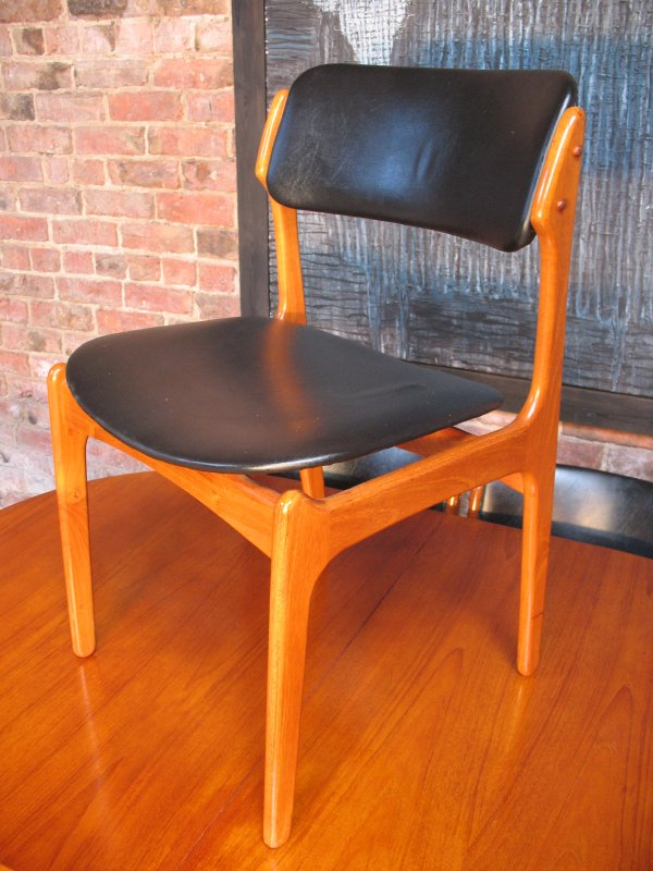 6 Danish Erik Buch for O.D Molber Chairs