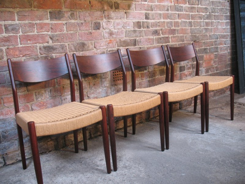 SOLD - 4 Solid rosewood Moller Chairs  (price on request)
