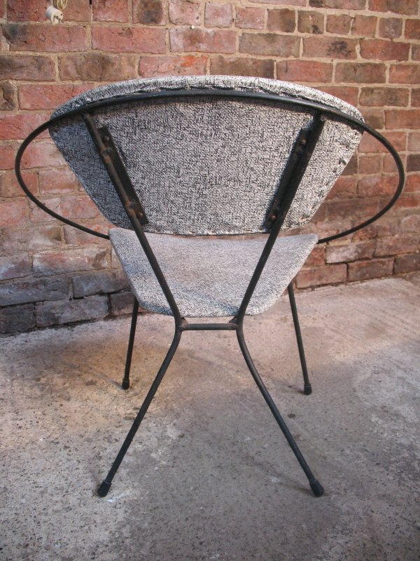 **SOLD**1950's Hoop chair with metal rod legs