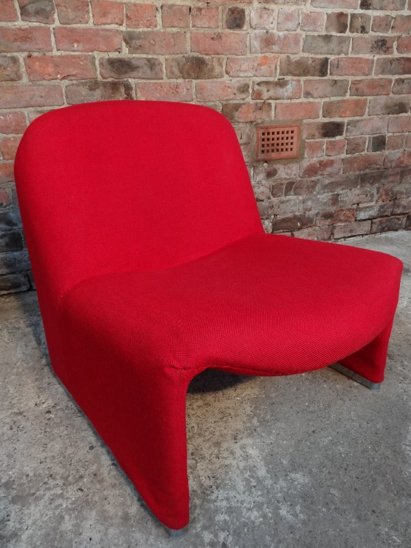 SOLD - 'Alki' Giancarlo Piretti for Castelli red chair