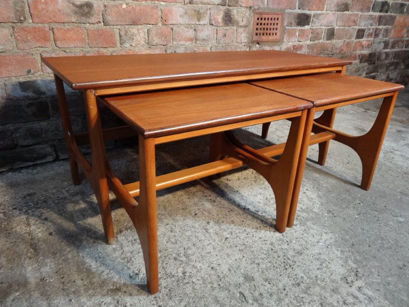 **SOLD**Large Teak nest of tables (3)