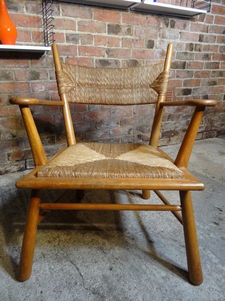 **SOLD**1960s designer Wegner (style) ''Chief'' Arm Chair