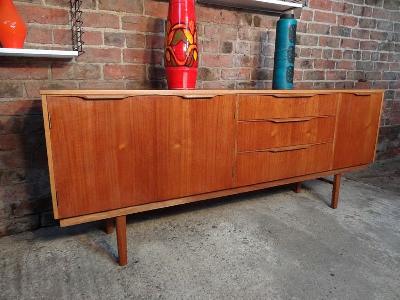 SOLD - Organic shaped teak Sideboard
