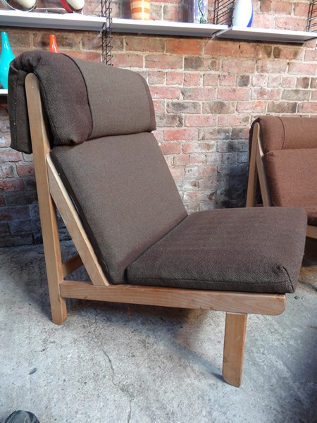 SOLD - 1968 Vintage danisch Bernt Petersen  ''The Rag''chair, price is for the set!!