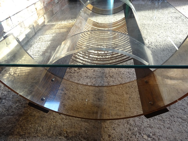 **SOLD**1970's glass minimalistic coffee table
