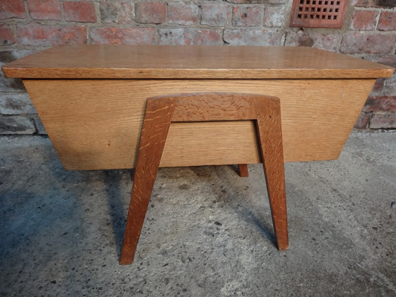 SOLD - 1950's oak side table