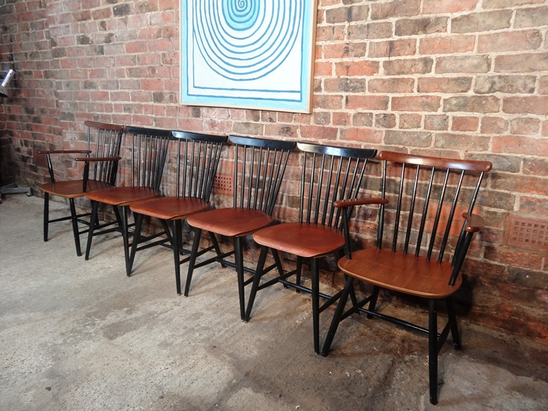 **SOLD**6 Ilmari Tapiovaara for Edsby Verken Chairs