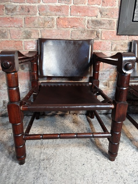"**SOLD**Beautiful 1960s Arne Norell ""Sirocco"" brown leather safari chair"