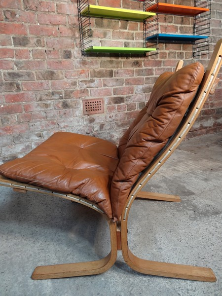 **SOLD** 1970's Danish Ingmar Relling brown leather  chair (R4)