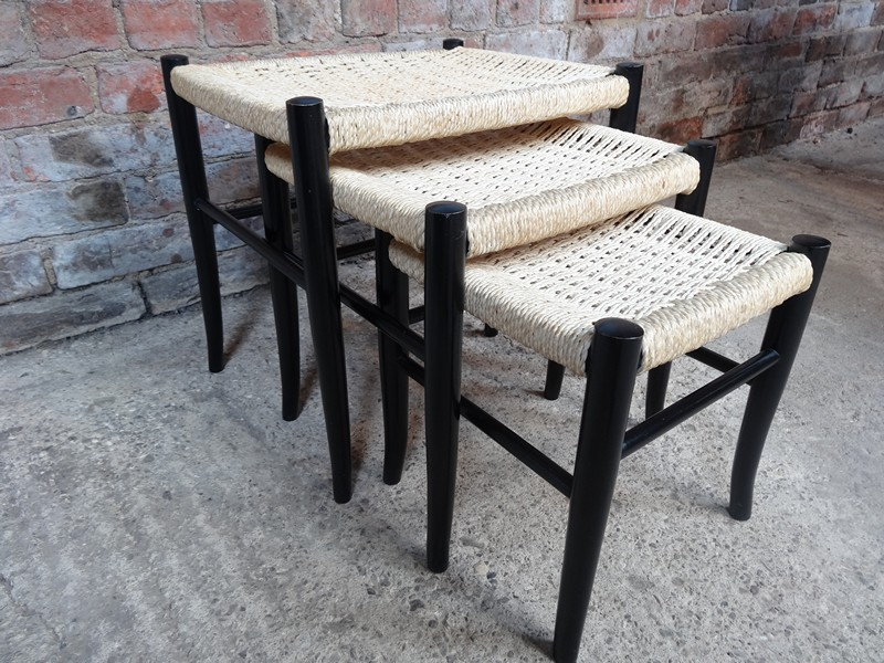 Danish cord nest of tables (3)