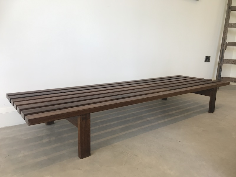 Dutch 1960 Slat Bench Designed by Martin Visser for Stedelijk museum Amsterdam