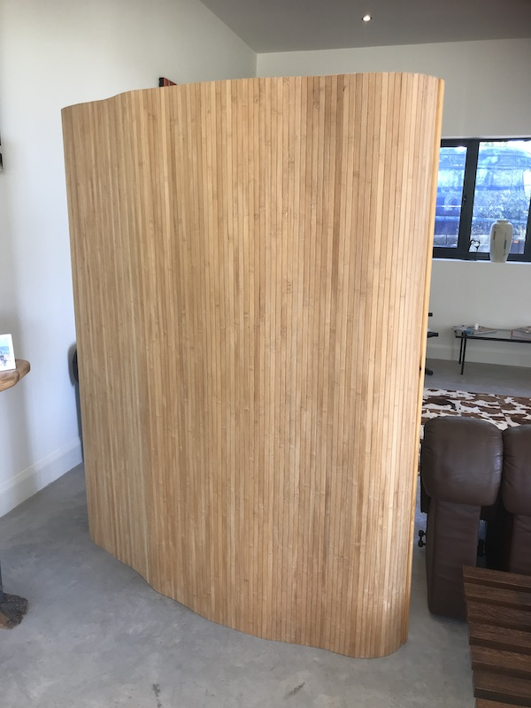 Wooden Tambour Room Divider similar like Alvar Aalto Screen 100