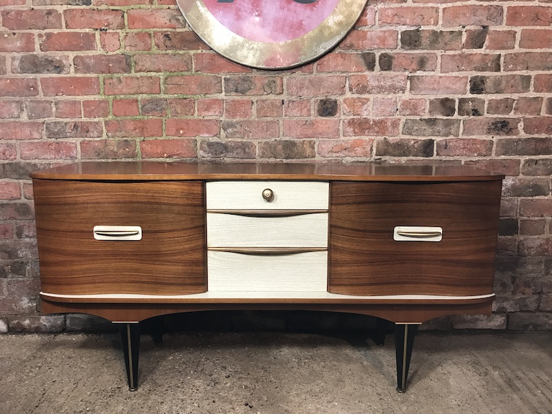 Sought after Vintage 1950 Retro Sideboard with Brass Handles  (104)