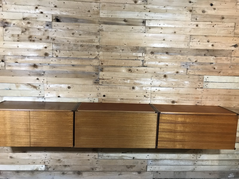 SOLD - Exceptional totally free-hanging XXL teak 1960 Retro sideboard / Desk (A)