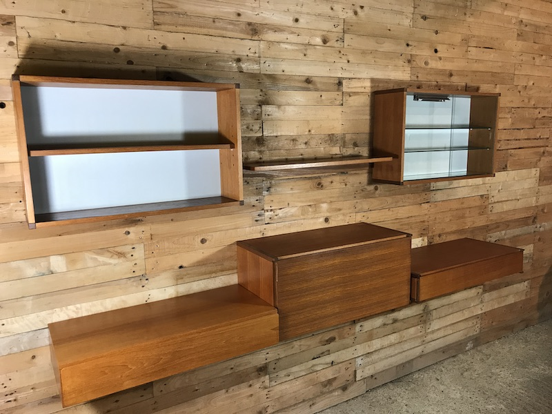 Sought after wall unit, Totally free-hanging XXL sideboard / Desk (B)