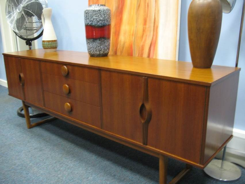 SOLD - Teak Sideboard lovely round handles