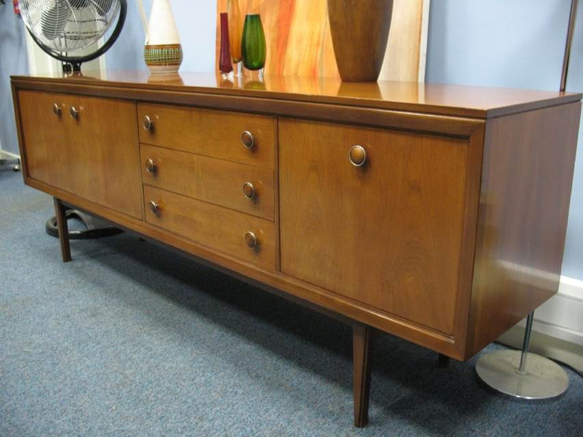 **SOLD**1950's Teak Sideboard lovely round handles